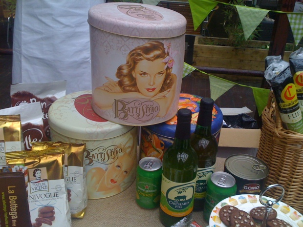 la bottega fine foods stall panatone tins