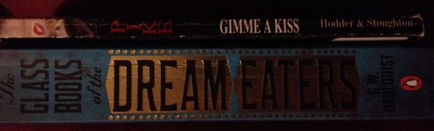 Books from side Glass book of the Dream eaters and Gimme a Kiss