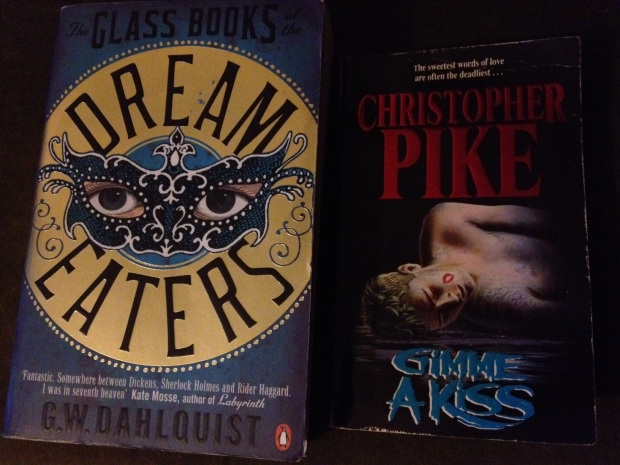 Books - Glass book of the dream eaters and Gimme a Kiss