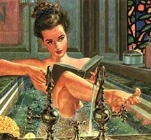 reading vintage bath